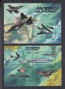 BURUNDI 2012 - Avions Militaires - Feuillet 4 Val + BF Neufs // Mnh // CV 36.00 Euros - Burundi