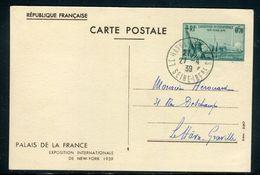 France - Exposition De New York , Oblitération Du Havre En 1939  - Ref J8 - Entiers Postaux