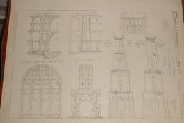 Plan Du Viaduc De Goelschthal. Chemin De Fer Saxo-Bavarois. 1857. - Public Works