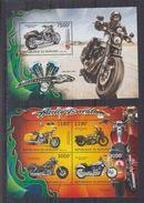 BURUNDI 2012 - Motos Harley Davidson - Feuillet 4 Val + BF Neufs // Mnh // CV 36.00 Euros - Burundi
