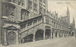 LUBECK , Rathaus , CPA ANIMEE , 1909 - Luebeck