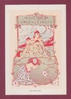 291217 VIEUX PAPIERS - EX LIBRIS Art Nouveau PAUL LEPPIN écrivain Austro Hongrois PRAGUE H SILILH Illustrateur Château - Ex-libris