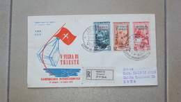 TRIESTE A FDC F.D.C. FIRST DAY COVER AMG.FTT AMG-FTT  BUSTA PRIMO GIORNO - 7. Trieste