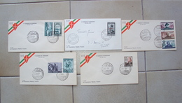 TRIESTE A FDC F.D.C. FIRST DAY COVER AMG.FTT AMG-FTT LOTTO 5  BUSTE PRIMO GIORNO - Trieste