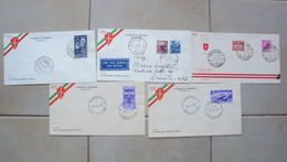 TRIESTE A FDC F.D.C. FIRST DAY COVER AMG.FTT AMG-FTT LOTTO 5  BUSTE PRIMO GIORNO - 7. Triest
