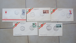 TRIESTE A FDC F.D.C. FIRST DAY COVER AMG.FTT AMG-FTT LOTTO 5  BUSTE PRIMO GIORNO - Storia Postale
