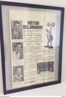 SPORTS - HALTÉROPHILIE - VICTOR DELAMARRE (1888 - 1955) - AFFICHE D'UN DE SES SPECTACLES DE TOURS DE FORCE - Haltérophilie