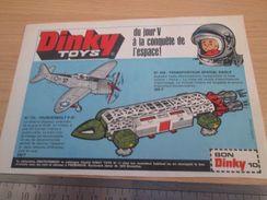DINKY TOYS : P-47 THUNDERBOLT ET TRANSPORTEUR EAGLE  Pour  Collectionneurs .. PUBLICITE  ; Format : 1/2 PAGE A4 - Airplanes & Helicopters