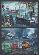 BURUNDI 2012 - Transports Cargo, Avions, Bateaux, Camions Et Trans - Feuillet 4 Val + BF Neufs // Mnh // CV 36.00 Euros - Burundi