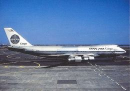 Aviation Postcard-138 PAN AM Cargo (Metal Col.) Boeing 747 - 1946-....: Moderne