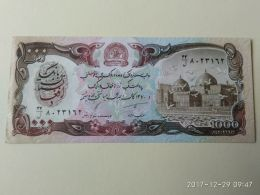 1000 Afgani 1991 - Afghanistan