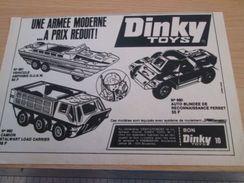 DINKY TOYS : FERRET DUKW ET STALWART   Pour  Collectionneurs .. PUBLICITE  ; Format : 1/2 PAGE A4 - Tanks