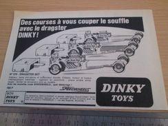 DINKY TOYS : DRASTER SET   Pour  Collectionneurs .. PUBLICITE  ; Format : 1/2 PAGE A4 - Tanks