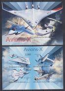 BURUNDI 2012 - Transports, Avions X - Feuillet 4 Val + BF ND Neufs // Mnh // Imp. CV 71.00 Euros - Burundi