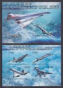BURUNDI 2012 - Transports, Avions Supersoniques, Concorde - Feuillet 4 Val + BF ND Neufs // Mnh // Imp. CV 71.00 Euros - Burundi