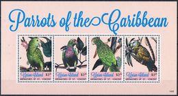 Bloc Sheet Oiseaux Perroquets Birds Parrots Macaws Neuf  MNH **  Grenadines Of St Vincent 2014 - Parrots