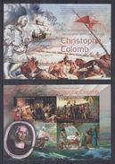 BURUNDI 2012 - Bateaux, C.Colomb - Feuillet 4 Val + BF ND Neufs // Mnh // Imp. CV 71.00 Euros - Burundi