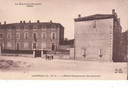CPA LANGEAC (43) L' ECOLE COMMUNALE DES GARCONS - ANIMEE - Langeac