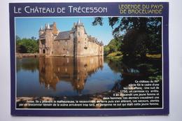 Campeneac (56800) Le Chateau De Trecesson ( 15°s ) Legende Du Pays De Broceliande - Otros Municipios
