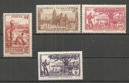 COTE IVOIRE - Yv.  N°  171 à 174  *   Sans RF  Cote  10,5 Euros  BE R 2 Scans - Ivory Coast (1892-1944)