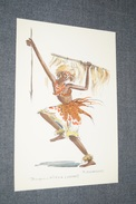 Afrique,superbe Gravure Originale Signé P.Daxehlet,état De Collection,Danseur,Urundi,à Kitega,20 Cm. Sur 13,5 Cm. - African Art