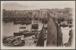 Fishing Fleet In Harbour At St Ives, Cornwall, C.1910 - J Welch RP Postcard - St.Ives