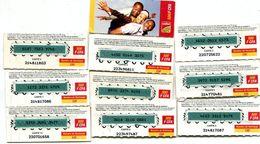 """@+ Niger - 9 Cartes Prépayée Celtel -  500 FCFA - Verso """"cartes 2 à 10"""" - Niger"""
