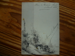 MENU 3 Avril 1896 Peint à La Main (oeuvre Unique) - Menus