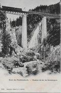 GORNERGRAT - BAHN → Pont Du Findelenbach Avec Le Train , Ca.1900 - VS Wallis