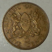 Kenya - 5 Cents – 1975 -  Mzee Jomo Kenyatta - (29) - Kenya
