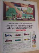 Pour  Collectionneurs  PUBLICITE 60/70 ; Format : Page A4 TORPEDOS 1925  MINIATURES A MONTER HUILE VANDEMOORTELE - Carros