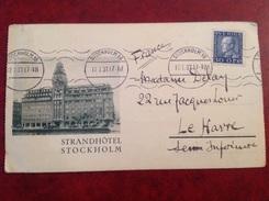 Stockholm Pour Le Havre Strandhotel - 1930- ... Coil Stamps II
