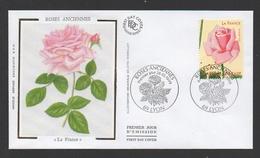 """DF / PREMIER JOUR D' EMISSION / FDC DU TP 3250 FLEURS ROSES ANCIENNES """" LA FRANCE """" / OBL. 28.05.1999 LYON 69 - Lettres & Documents"""
