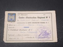 FRANCE - Certificat De Radio Téléphonie De Verdun - L 10935 - Documents