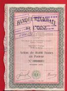 BANQUE REGIONALE DE L'OISE COMPIEGNE 1954   ACTION AU PORTEUR - Banca & Assicurazione