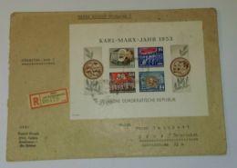 """Block 9B, """"Marx-Block"""" Als EF Auf R-Brief Nach Österreich - DDR"""