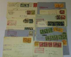 """16 Belege Um 1925, Meist R-Brief Mit Hohen Frankaturen Nach Europa, Viele Abgang """"Flushing Jack"""" - Vereinigte Staaten"""