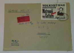 """Bl. 96, """"Friedrich Wolf"""", Block Als EF Auf Wertbrief Mit Bahnpoststempel - DDR"""