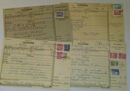 2550, 4 Auslandstelegramme Aus 1989, Hohe Frankaturen, Seltene Paketstempel - DDR