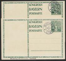 """P91I/II, """"Geburtstag Luitpold"""", 1911 Beide Karten Mit Seltenem Zudruck """"Kunstverlag"""" Leo Stainer """"Innsbruck"""", O - Bayern"""
