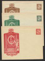 """PU 31E1, 32E1, 34E1,""""Ludwig III"""", Zierbild, 3 Versch. Umschläge, * - Bayern"""