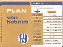 STIB - PLAN DU RESEAU - PLAN VEN HET NET - 1972 - Europe