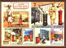 INDIA STAMPS, SOUVENIR SHEET OF 4, 18 OCT 2005, LETTER BOXES, MNH - Blocks & Sheetlets