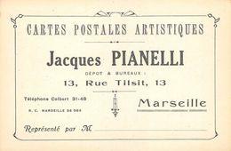 BOUCHES DU RHONE  13  MARSEILLE   6°ARR  CARTES POSTALES ARTISTIQUES PIANELLI, 13 RUE DE TILSIT  PUBLICITE - Marseilles