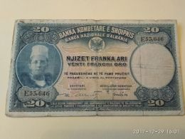 20 Franchi Oro 1945 - Albania