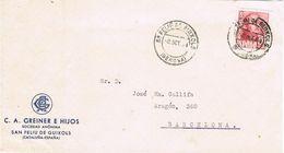 26828. Frontal Comercial SAN FELIU De GUIXOLS (Gerona) 1954 - 1931-Aujourd'hui: II. République - ....Juan Carlos I