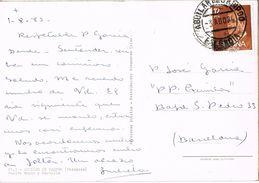 26829. Postal AGUILAR De CAMPOO (Palencia) 1986. Puente Mayor Y Castillo - 1931-Hoy: 2ª República - ... Juan Carlos I