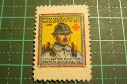 Erinnophilie - Société Française De Secours Aux Blessés Militaires - 1916 - Première Guerre Mondiale - Vignettes Militaires