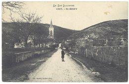 Cpa Le Lot Illustré - St-Sozy - France