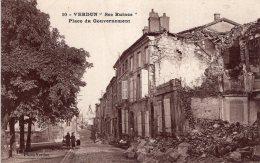 B40528 Verdun, Ses Ruines Place Du Gouvernement - Francia